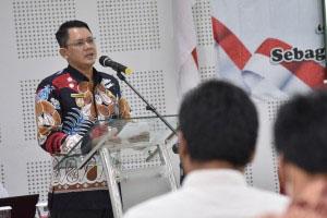 Wakil Bupati Sleman, Danang Maharsa saat pengukuhan kader Pancasila. Foto: nyatanya.com/Humas Sleman