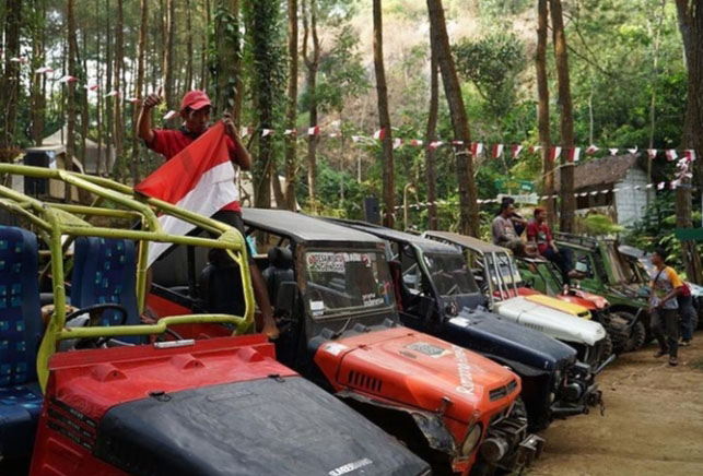 Jip Off Road, salah satu daya tarik wisata di kawasan Borobudur Highland. Foto: nyatanya.com/Instagram