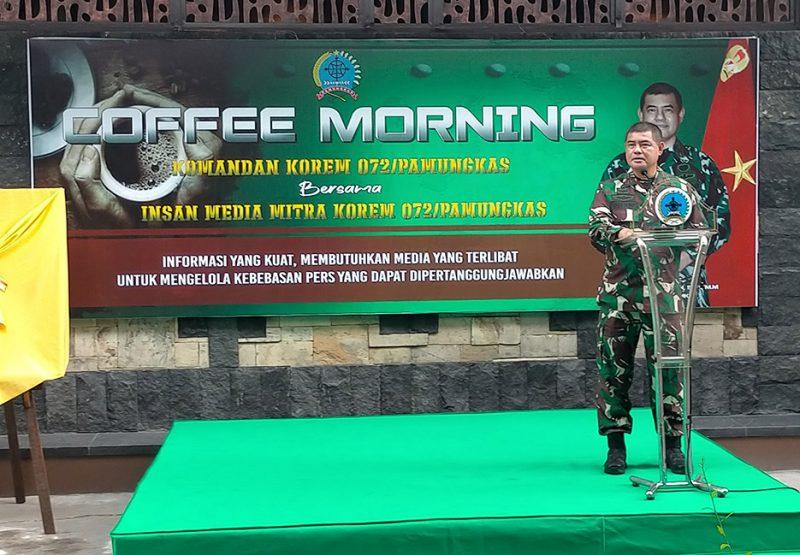 Komandan Korem 072/Pmk Brigjen TNI Ibu Bintang Setiawan, S.I.P,. M.M. Foto: nyatanya.com/Ignatius Anto