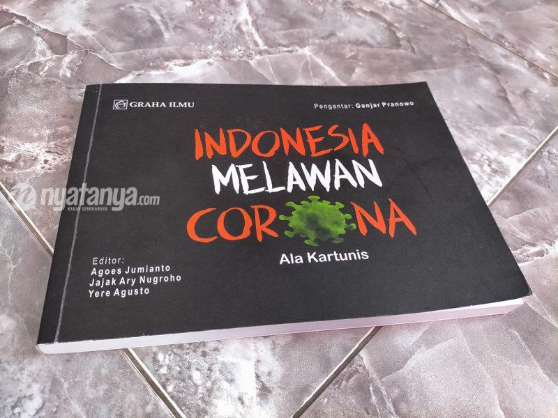 Buku Indonesia Melawan Corona Ala Kartunis. (Foto:nyatanya.com/Ignatius Anto)