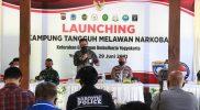 Wakil Walikota Yogyakarta Heroe Poerwadi melaunching Kelurahan Giwangan, Kampung Tangguh Melawan Narkoba. (Foto: nyatanya.com/Humas Pemkot Yogya)