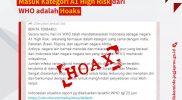 Pesan berantai yang dipastikan hoaks itu. (nyatanya.com/Diskominfo DIY)