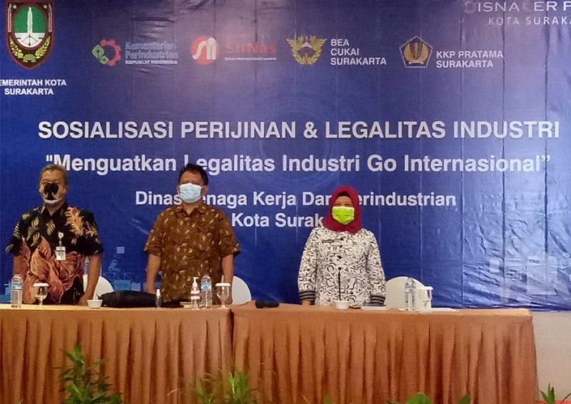 Sosialisasi perizinan dan legalitas produk industri bagi pelaku IKM di Kota Surakarta. (Foto:nyatanya.com/Diskominfo Jateng)