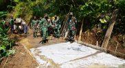 Kasrem 072/Pamungkas Kolonel Afianto meninjau pelaksanaan TMMD ke 111 di Desa Purbayan Kecamatan Kemiri Kabupaten Purworejo. (Foto: nyatanya.com/Penrem072)