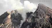 Penampakan Gunung Merapi pagi tadi pukul 06:46 WIB. (Foto: nyatanya.com/BPPTKG)