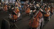 Pentas perdana Royal Orchestra Keraton Yogyakarta. (Foto:nyatanya.com/Diskominfo DIY)