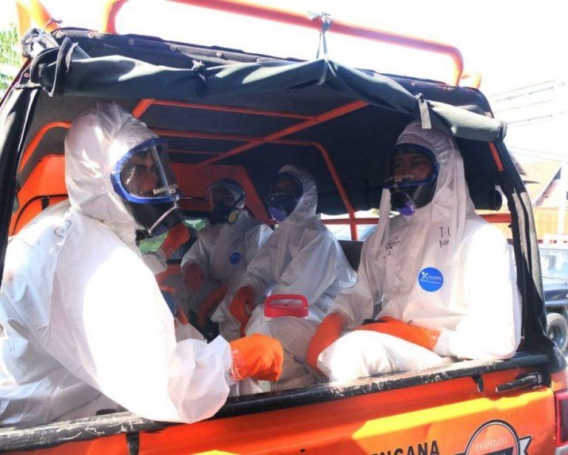 Relawan pemulasaran jenazah Covid-19 Klaten kewalahan. (Foto: nyatanya.com/Diskominfo Klaten)