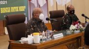 Wagub DIY Sri Paduka Paku Alam X dalam agenda komsos dengan Korem 072/Pamungkas. (Foto:nyatanya.com/Humas Pemda DIY)