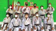 Pengda DIY Shokaido menggelar ujian kenaikan sabuk di Segoroyoso, Pleret, Bantul. FOTO : nyatanya.com/istimewa