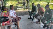 Prajurit Yonif 512/QY sosialisasikan Prokes kepada warga perbatasan Papua-PNG. (Foto : dokumentasi Yonif 512/QY)