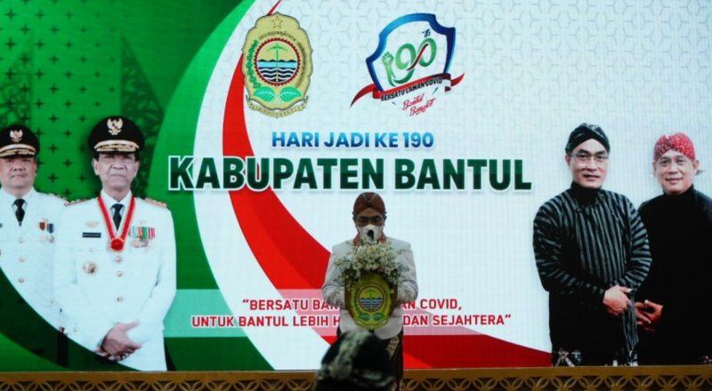 Peringatan Hari Jadi Ke-190 Kabupaten Bantul digelar secara virtual. (Foto:nyatanya.com/Humas Bantul)