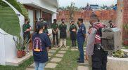 Satgas Covid-19 Baturraden bubarkan kerumunan di hari pertama PPKM Darurat. (Foto:nyatanya.com/Diskominfo Jateng)