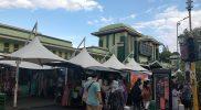 Pasar Beringharjo Barat sudah mulai dibuka dengan pembatasan. Foto diambil pada hari pertama PPKM Darurat Jawa Bali, Sabtu (3/7/2021).(Foto:nyatanya.com/Agoes Jumianto)