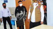 Kepala BNPB Letjen Ganip Warsito sat mengunjungi shelter isolasi di Sleman. (Foto:nyatanya.com/Humas Pemda DIY)