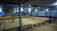 Kandang ayam milik salah satu peternak ayam broiler atau ayam potong di Desa Pusporenggo tampak kosong, menurut pemilik peternakan Radityo Herlambang pengiriman bibit ayam sedikit terganggu adanya PPKM. (Foto:nyatanya.com/Diskominfo Boyolali)