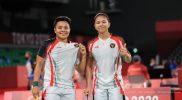 Ganda putri Greysia Polii/Apriyani Rahayu melaju ke perempat final cabang bulutangkis Olimpiade Tokyo 2020. (Foto:nyatanya.com/noc indonesia)