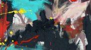 "Lukisan karya Chryshnanda Dwilaksana berjudul ""Bulan di atas Borobudur"". (Foto: dokumentasi pribadi)"