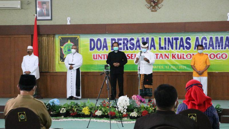 Doa bersama lintas agama digelar di Kulonprogo. (Foto:nyatanya.com/Humas Pemkab Kulonprogo)