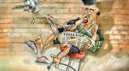 Kartun Edi Dharma berjudul Tembak. (Foto:nyatanya.com/istimewa)