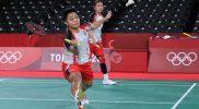 Sejarah baru diukir Ganda putri Indonesia Greysia Polii/Apriyani Rahayu. Kemenangan yang didapat atas Du Yue/Li Yin Hui (China) menjadikan mereka sebagai ganda putri Indonesia pertama yang mampu menjejak semifinal di Olimpiade. (Foto: nocindonesia/Kemenpora)