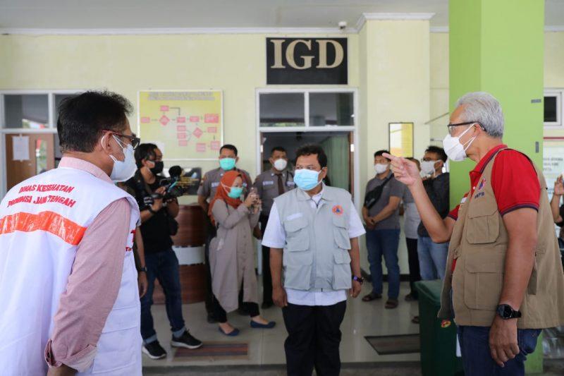 Ganjar Pranowo sidak ke RSUD Dr M Ashari Pemalang. (Foto:nyatanya.com/Humas Jateng)