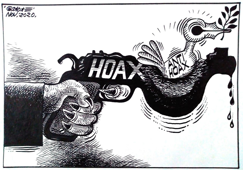 Salah satu kartun opini karya Gatot Eko Cahyono.(Foto:nyatanya.com/istimewa)