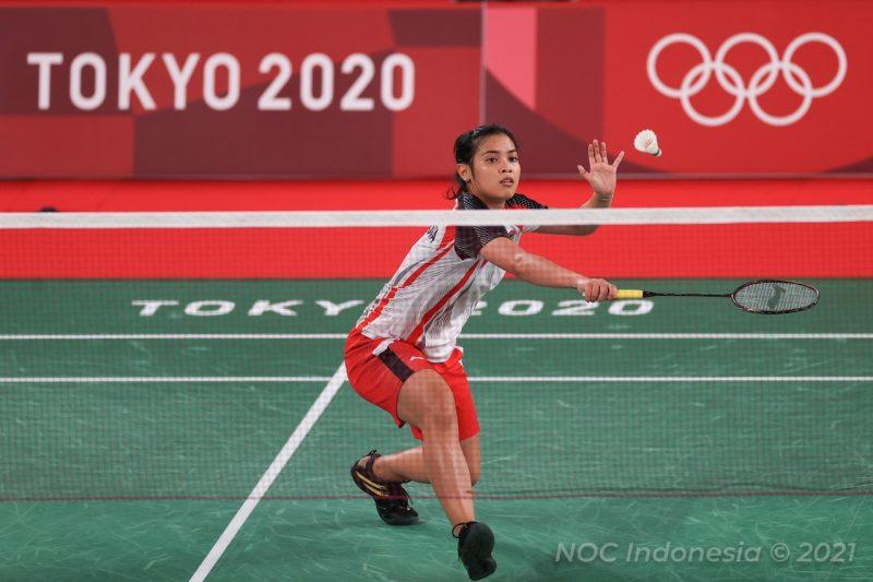 Gregoria Mariska Tunjung berhasil melaju ke babak berikutnya sebagai juara grup M . (Foto:nyatanya.com/nocindonesia)