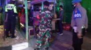 Kegiatan penegakan PPKM Darurat yang digelar Koramil 09/Grogol. (Foto:nyatanya.com/Humas Pemkab Sukoharjo)