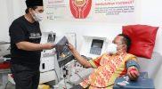 Wakil Gubernur Jawa Tengah Taj Yasin Maimoen kembali donor darah plasma konvalesen. (Foto:nyatanya.com/Humas Jateng)