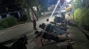 Empat pemuda ini dihukum push up setelah kedapatan mancing tengah malam di saat PPKM Darurat. (Foto:nyatanya.com/Diskominfo Klaten)