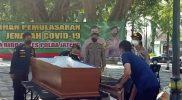 Pola penanganan jenazah Covid-19 tidak boleh dilakukan sembrono. (Foto:nyatanya.com/Humas Klaten)