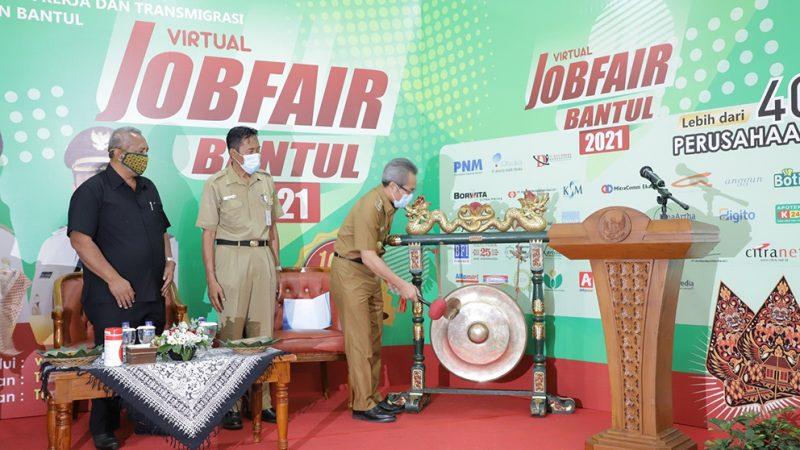Job Fair Virtual Bantul 2021 resmi digelar mulai 12 Juli – 14 Juli 2021. (Foto:nyatanya.com/Humas Bantul)