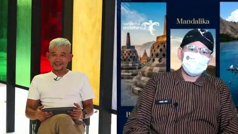 Sandiaga Salahuddin Uno secara resmi membuka gelaran ARTJOG MMXXI. (Foto:nyatanya.com/YouTube ARTJOG)