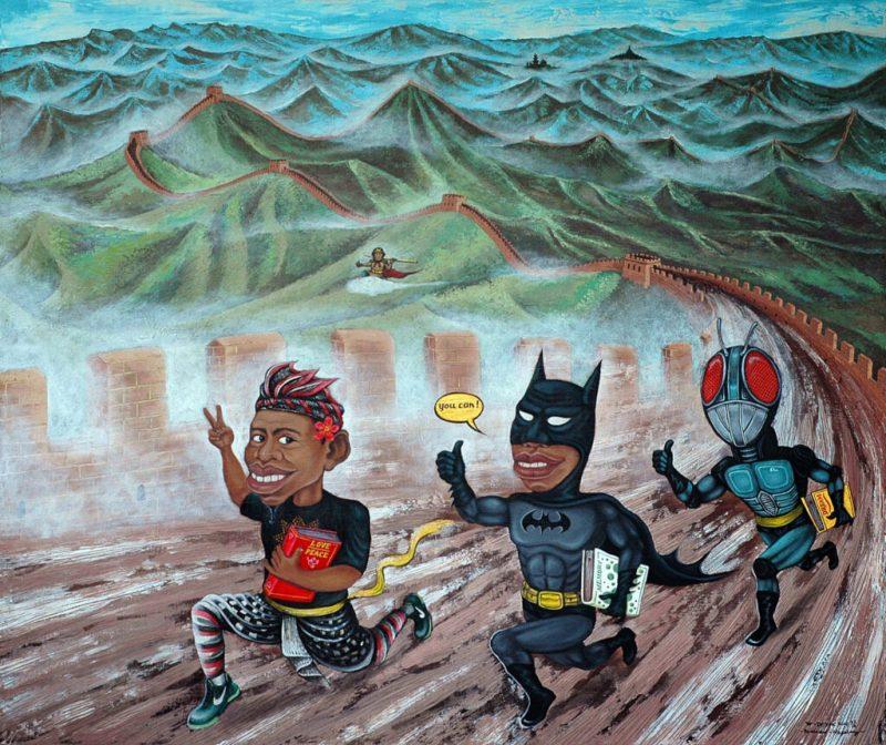 Kartun Dedok berjudul Race for Human Rights. (Foto:nyatanya.com/istimewa)