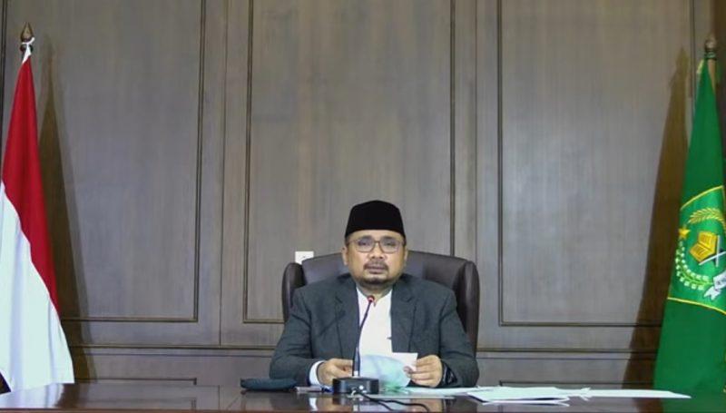 Menteri Agama Yaqut Cholil Qoumas. (Foto:nyatanya.com/YouTube Kemenag RI)