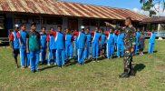 Prajurit Yonif 403/WP latih PBB siswa di perbatasan (Foto : nyatanya.com/dokumentasi Yon 403)