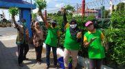 Untuk keempat kalinya Klomtan Loh Jinawi panen kangkung dan terong. (Foto:nyatanya.com/Humas Pemkot Yogya)