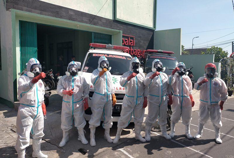 Tim Relawan Kricak Kidul siap menjalankan tugas kemanusiaan. (Foto:nyatanya.com/Agoes Jumianto)
