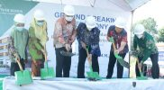 Bupati Kudus HM Hartopo melakukan peletakan batu pertama pembangunan Rumah Sakit Sarkies Aisiyah. (Foto:nyatanya.com/Diskominfo Jateng)