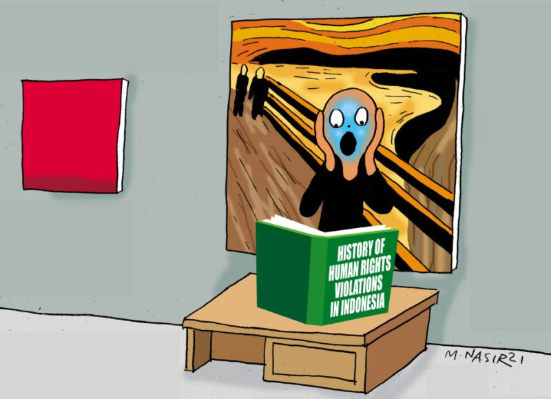 Kartun M Nasir berjudul History of Human Rights. (Foto:nyatanya.com/istimewa)