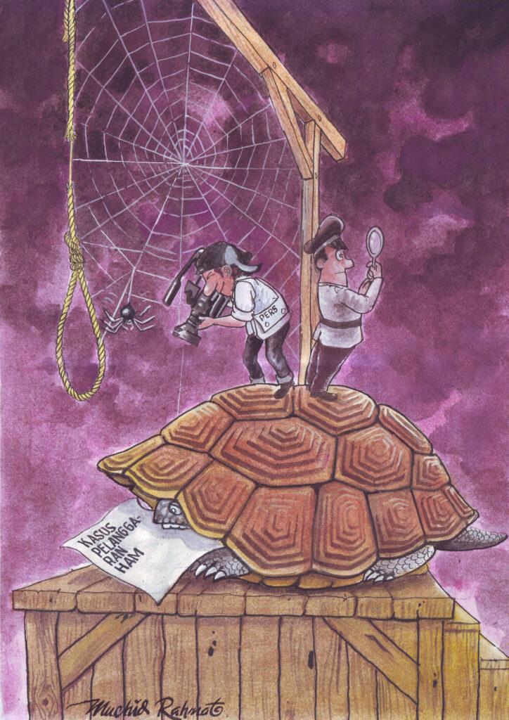 Karya Muchid Rahmat berjudul Kasus pelanggaran HAM berat. (Foto:nyatanya.com/istimewa)