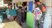 Koramil 03/Bulu, Polsek dan Satpol PP Kecamatan Bulu melaksanakan Pemasangan Pamplet PPKM Darurat. (Foto:nyatanya.com/Diskominfo Sukoharjo)