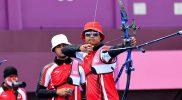 Hasil kurang memuaskan harus dialami tim panahan beregu putra Indonesia di Olimpiade Tokyo 2020. (Foto:nyatanya.com/nocindonesia)