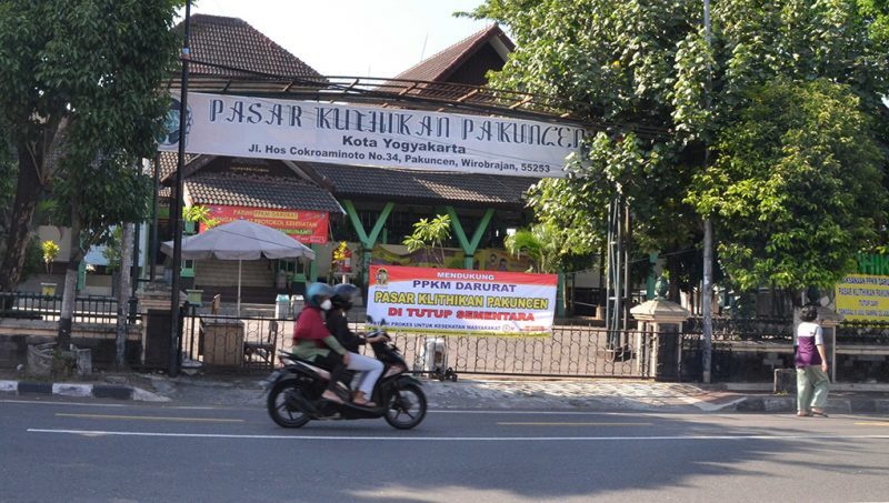 Pasar Klithikan Pakuncen Yogyakarta. (Foto:nyatanya.com/Humas Pemkot Yogyakarta)