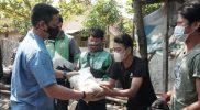 Warga Pekalongan terdampak Covid-19 mulai peroleh bantuan. (Foto:nyatanya.com/Diskominfo Pekalongan)