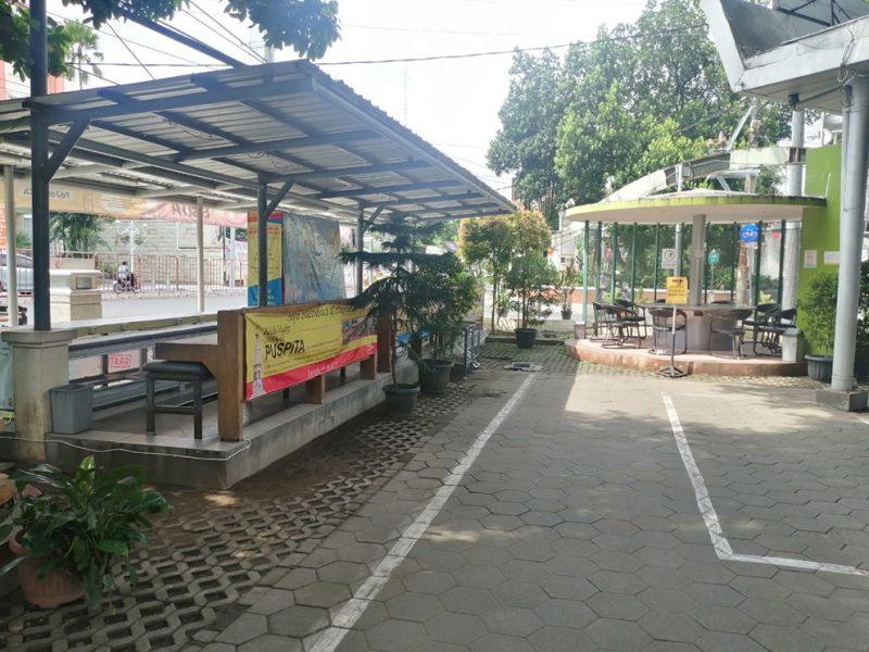 Perpustakaan Kota Yogya yang berada di Jalan Suroto Kotabaru tutup selama PPKM Darurat. (Foto:nyatanya.com/Humas Pemkot Yogya)