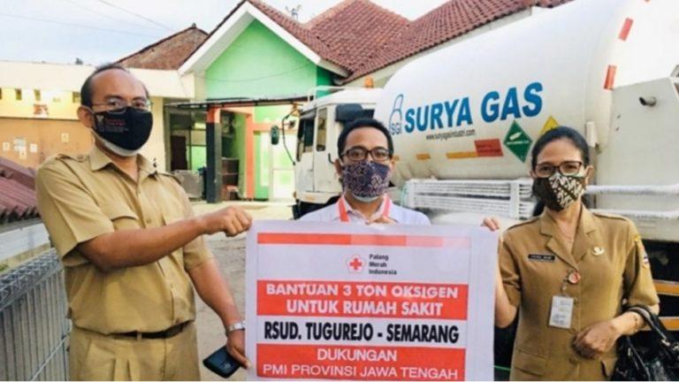 Bantuan oksigen dari PMI Jateng untuk RSUD Tugurejo Semarang. (Foto:nyatanya.com/Diskominfo Jateng)