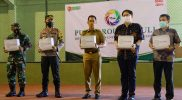 Penyerahan bantuan secara simbolis dari PT Pura. (Foto:nyatanya.com/Diskominfo Kudus)