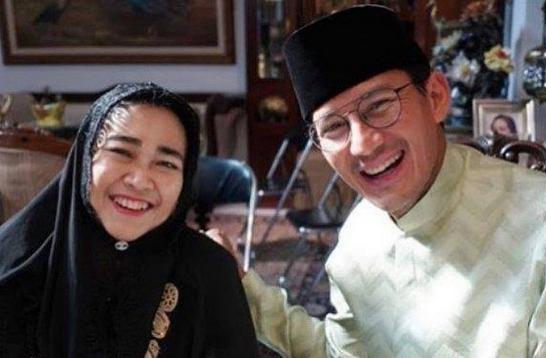 Rachmawati Soekarnoputri bersama Sandiaga Uno. (Foto:nyatanya.com/@sandiuno)