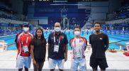 Perenang Aflah Fadlan Prawira dan Azzahra Permatahani kian memantangkan persiapan jelang penampilan perdana di Olimpiade 2020 Tokyo. Keduanya ditargetkan mempertajam rekor nasional atas namanya masing saat tampil di Tokyo Aquatics Center. (Foto:nyatanya.com/nocindonesia)